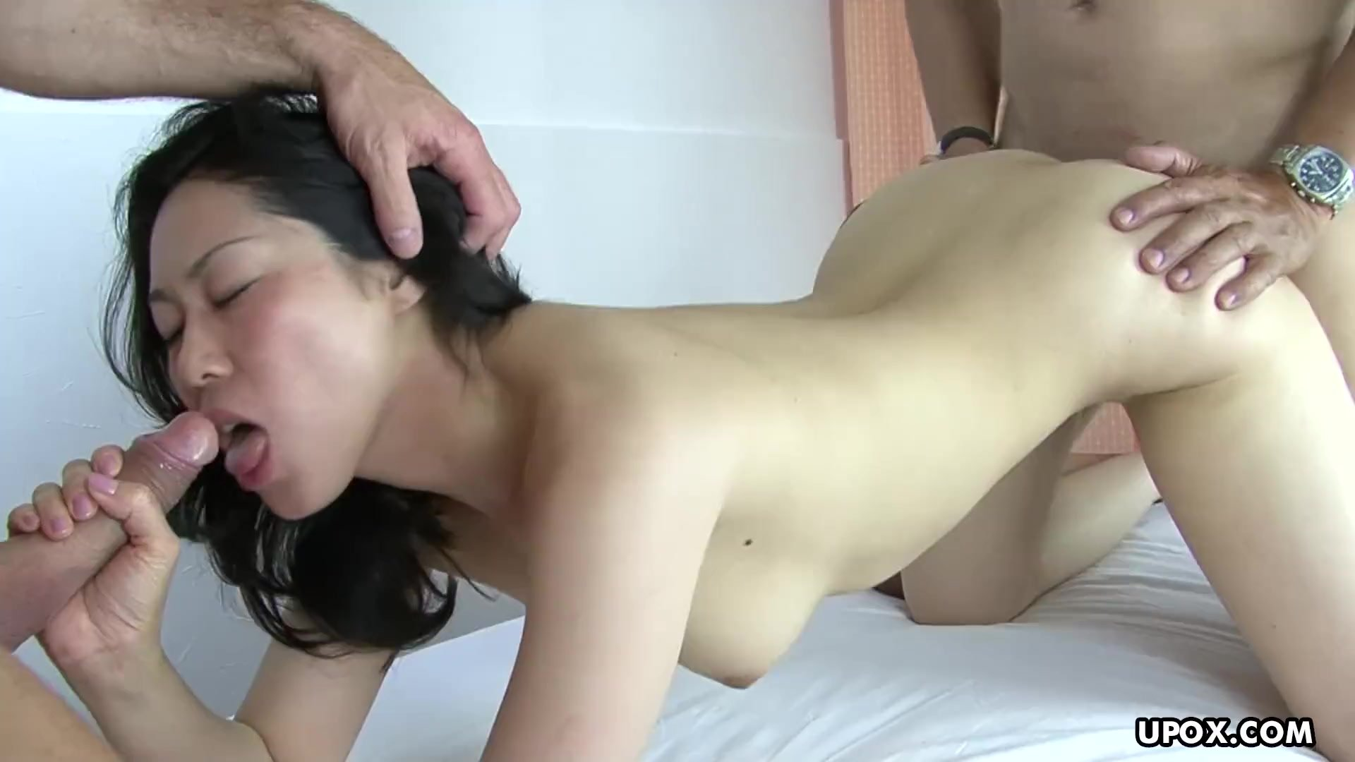 Asian brunette bitch getting her ass fucked like a slut