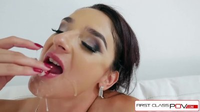 FirstClassPOV - Sheena Ryder sucking a big dick, big boobs and big booty