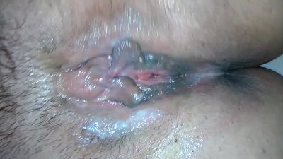 Creampie & The Eleven Queefs ! Hairy Amateur BBW Close Up Pussy Farts