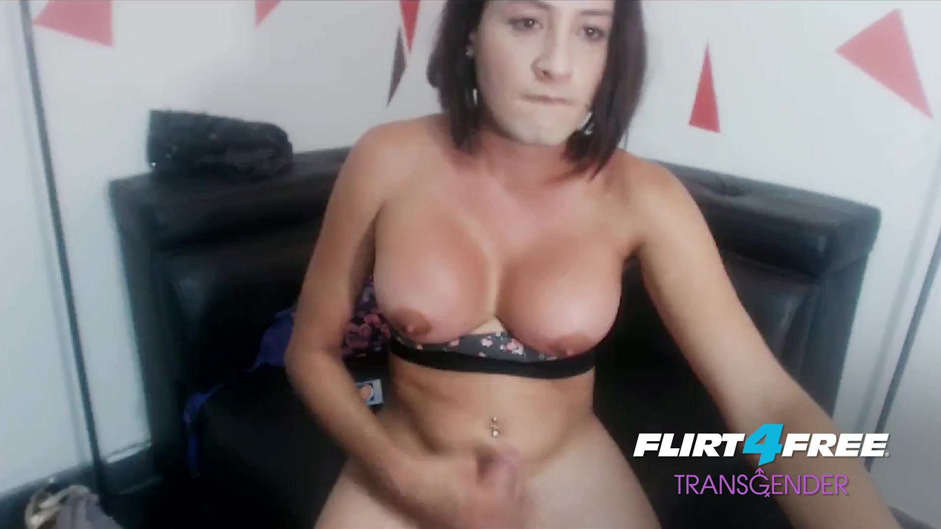 Nicolle Sessy on Flirt4Free Transgender - Big Titted Babe Drops a Big Load