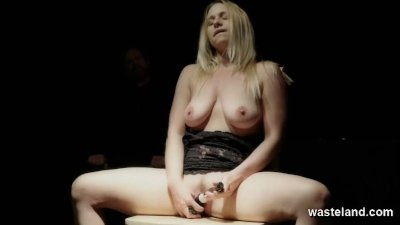 Obedience And Submission Class In The Dark For Buxom Blonde
