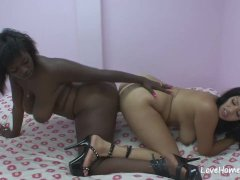 Horny Black Chicks Are Pleasuring Each Other Sensually