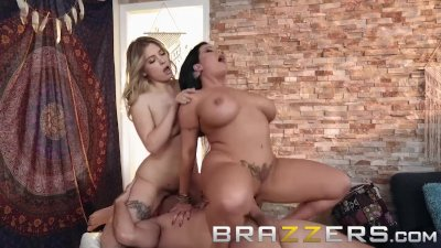 Brazzers - Hippy step mom fucks young couple
