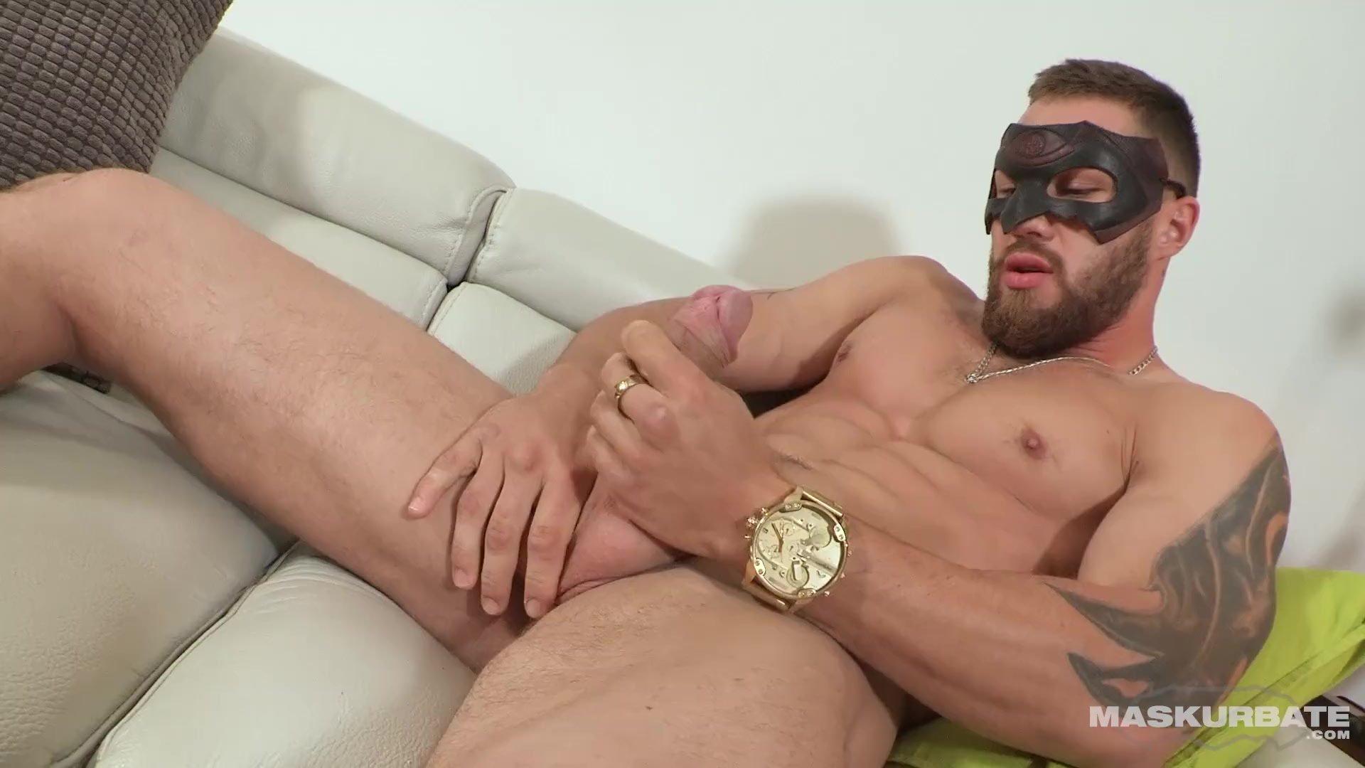 Maskurbate French Canadian Boy Jerking Big Uncut Dick