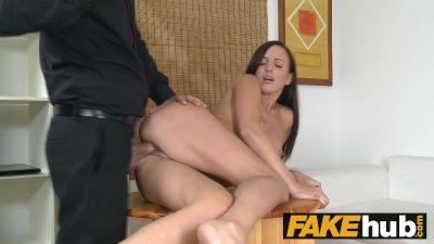 Fake Agent Pretty brunette with brown eyes cheats on her boyfriend.mp4