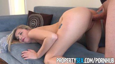 PropertySex - Female video game streamer fucks her landlord
