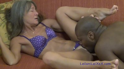 Milf Wakes BBC Lover with Blow Job