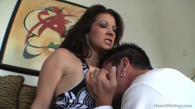 Busty Mom Raquel Devine Couch Sex With Young Lover