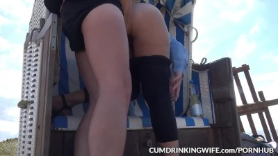 Dogging wife taking on plenty of cummers at rest areas