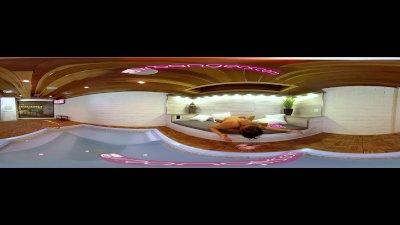 VRBangers.com-Hot blonde Milf get's her pussy massaged by sexy Ebony VRPORN