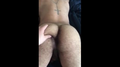 Husband playing with my ass