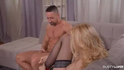 Sexy Vocal Teacher Angel Vicky Charms Two Cocks with Her Voice