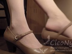 #63 Whiteish With Strap Heels