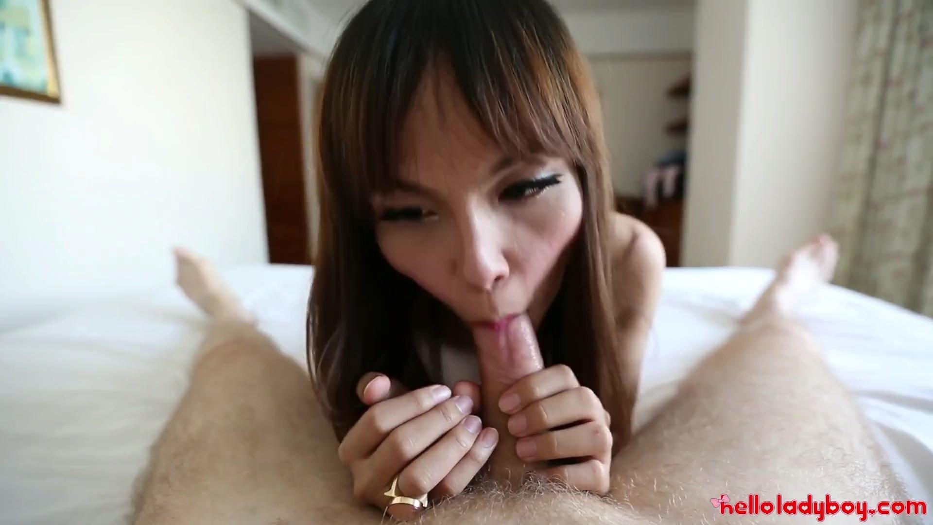 Hello LadyBoy - Thai ladyboy gets fucked by tourists big white cock