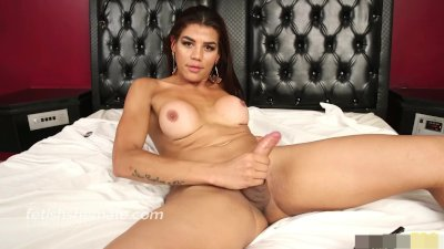 Latin Shemale Kendra Tuggs her Big She Cock