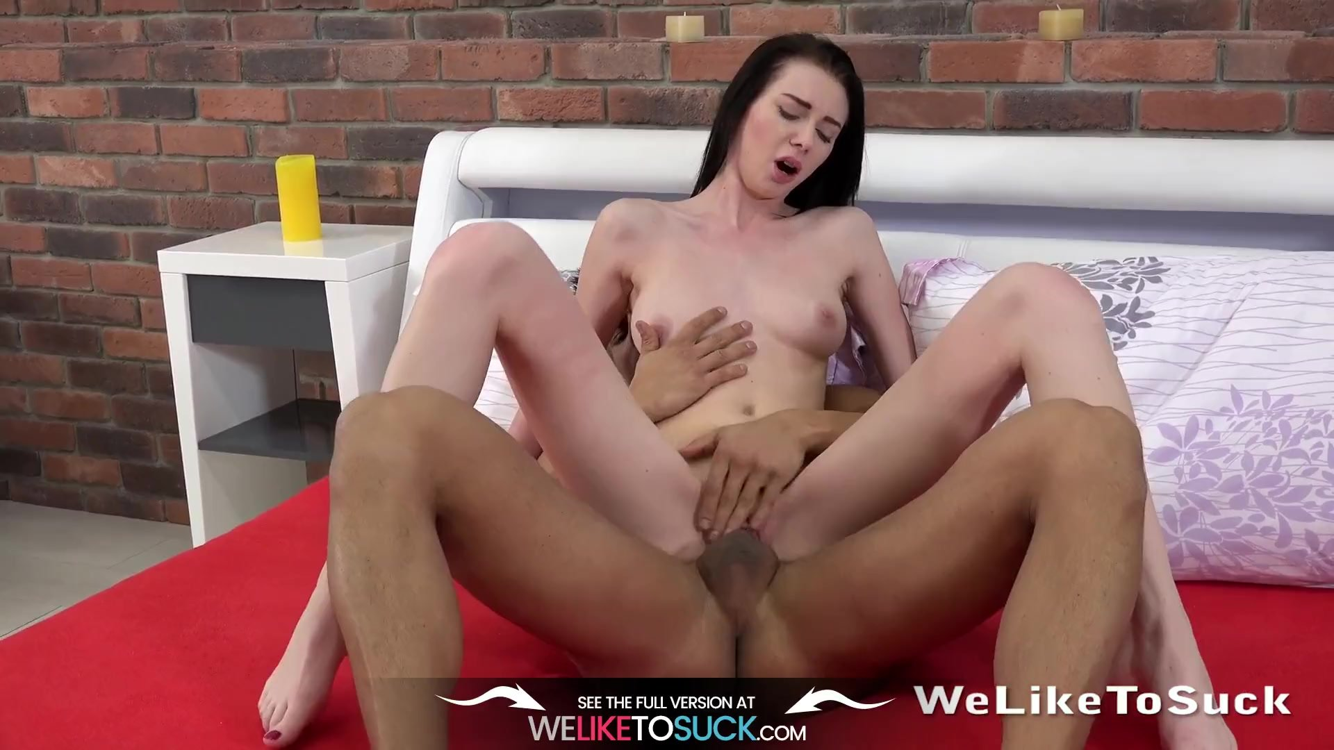 Blowjob - Liz Heaven sucks cock and takes a facial for We Like to Suck