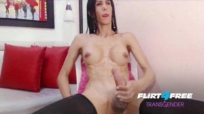 Nata Rose on Flirt4Free Transgender - Hot TGirl Twerks Her Big Ass and Cock