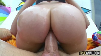 TRUE ANAL Bubble butt Mia Malkova anally gaped