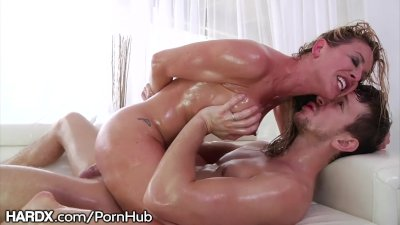 Oil & Rough Big Dick anal 4 MILF Cherie Deville's Big Ass