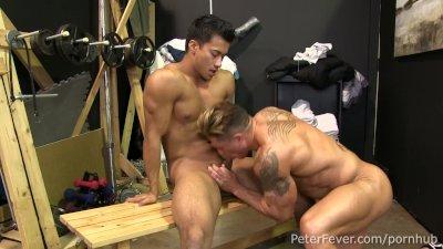 Hot Asian Jock Ken Ott Rides Muscleman Bryce Evans' Dick in BLACK PANDA Ep5