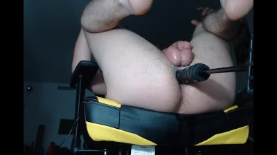 Under the desk Fuck machine Pounding