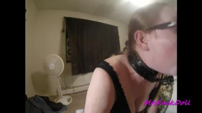 Submissive gets fucked and covered in cum