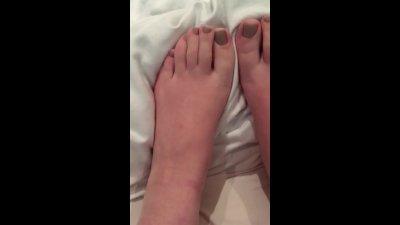 Cum, Spit, Lotion &Vape on feet