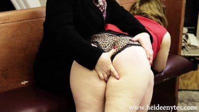Dr. Heidee Nytes Spanks Slutty Pandora Jones in Spanking Therapy