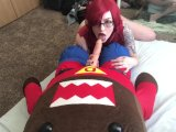 hot nerd chick fucked by domo-kunPorn Videos