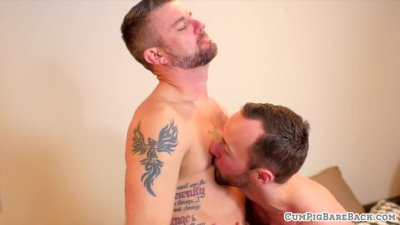 Tattooed mature bear gets plowed bareback