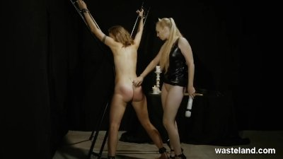 Lesbian Lovelies With Lashes Toys And Bondage in Femdom Action
