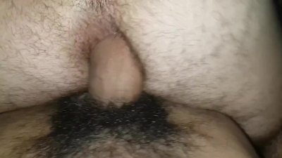 Big dick fucks hairy ass