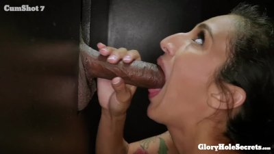 Tiny Destiny Lovee makes strangers cocks happy in the gloryhole