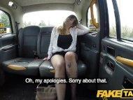 Fake Taxi Busty passenger gives good tit wank and rides drivers big beard