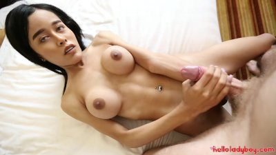 Hello LadyBoy - Petite Thai ladyboy gets ass crammed with white cock