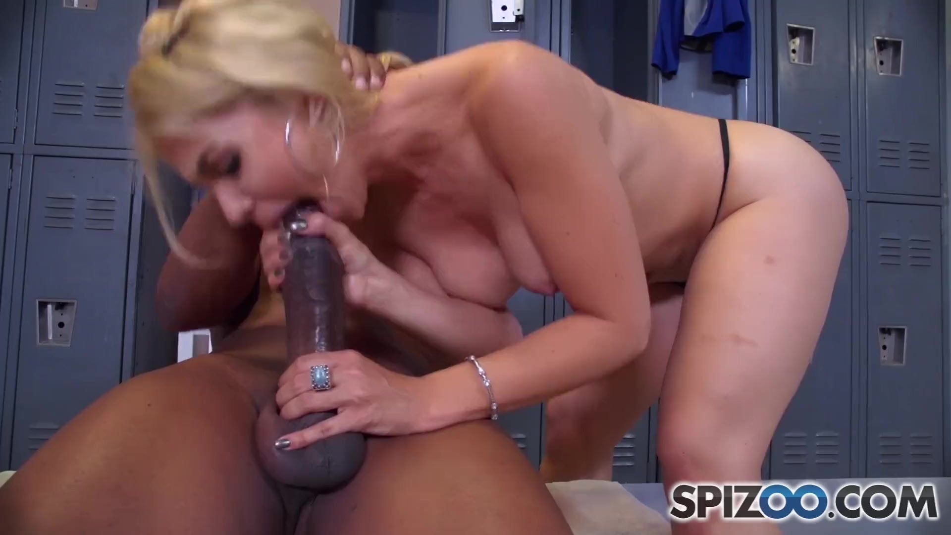 Spizoo - Sarah Vandella sucking a Big Black Cock, big boobs and big booty