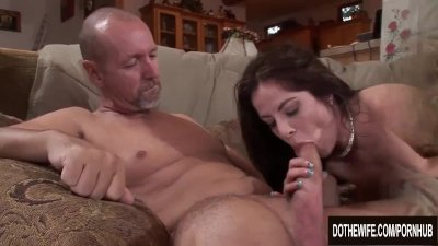 Pathetic Husband Watches Wife Kara Peters Fuck a Stud and Blow an Old Man
