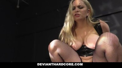 DeviantHardcore - Mature Blonde Dominates Sex Slave
