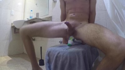RIDING HUGE TOY IN TOILET LEADS TO INTENSE ORGASM by ASSS_SQUIRT