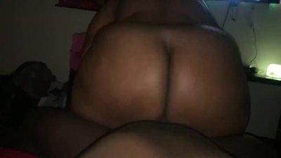 Big booty BBW rides dick