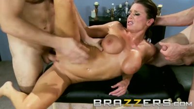 Brazzers - Dirty mother in law Veronica Avluv, gets shared by two cock