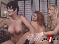 The Swinger Experience Presents Super horny lesbians dildo drilling their asses in foursome