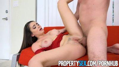 PropertySex - Teen tenant with big tits fucks her new landlord