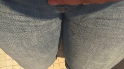Peeing in my new jeans!