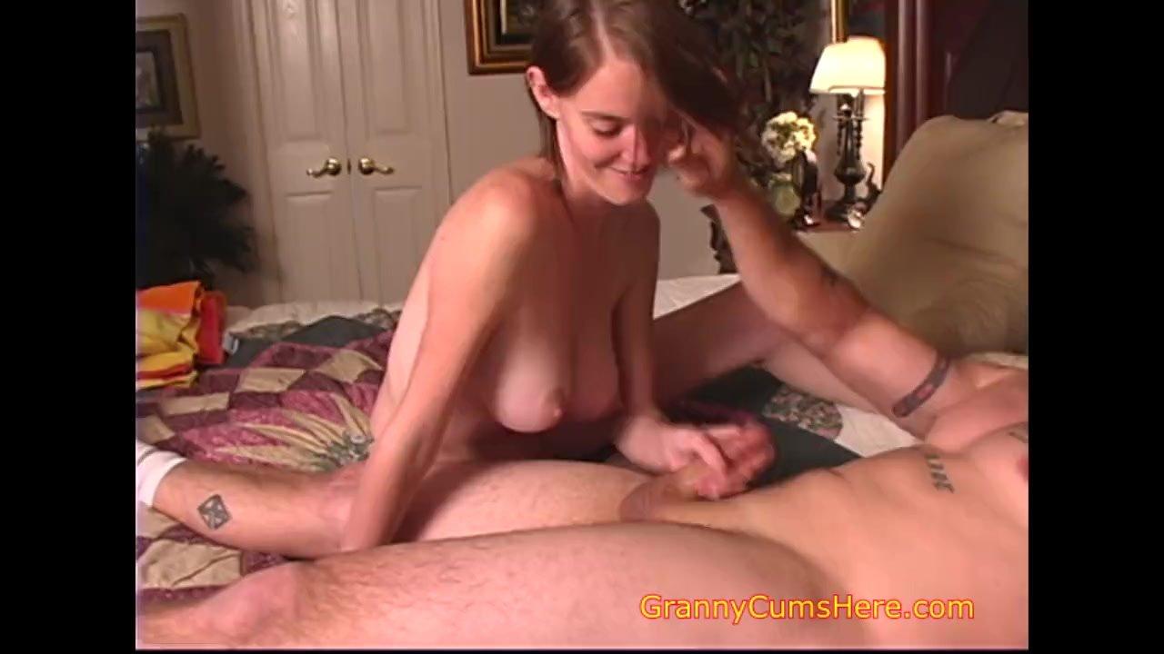 Teen Baby sitter gives a Hand Job