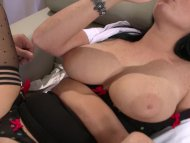Busty Sex Goddess Emma Leigh Pussy Fucks Her Lucky Lawyer in Doggy Style