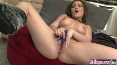 Twistys - Dani Daniels Relaxes with a cup of coffee and a vibrator
