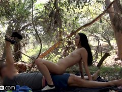 Bambi Black Gets Caught Fucking In The Woods