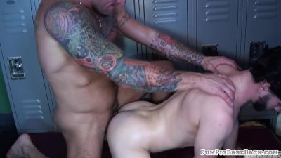 Bear duo assfucking handsome otter bareback