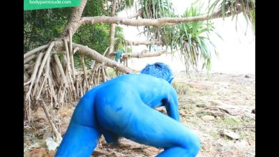 Real Pokemon Boy / Body Paint / 19 Years Old Extreme Fetish Cosplay #2